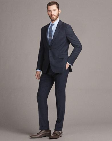 Gregory Plaid Birdseye Suit