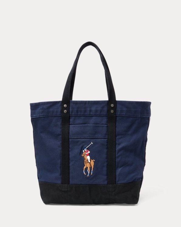 Polo Ralph Lauren Big Pony Canvas Tote Bag