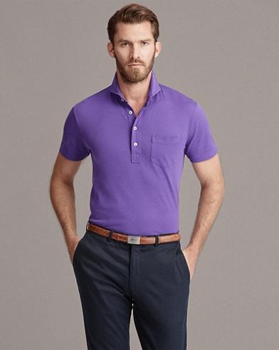 Washed Piqué Polo Shirt