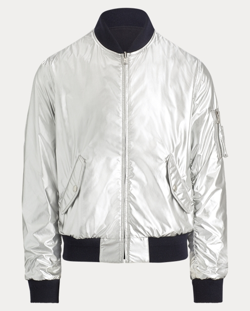 Reversible Foil Bomber Jacket