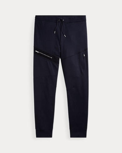 RLX Suede-Trim Cotton Jogger