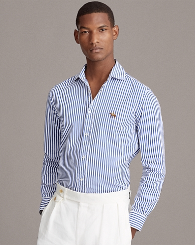Gingham Cotton-Linen Shirt