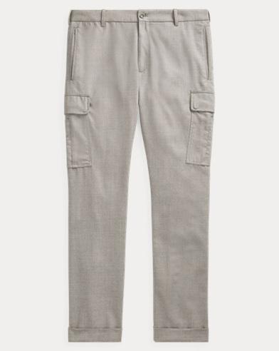 Pantalon de jogging cargo slim en laine