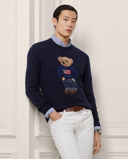 Purple Label Polo Bear Cashmere Sweater 1
