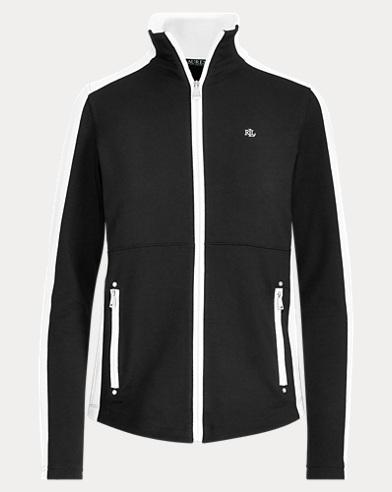 Color-Blocked Mockneck Jacket