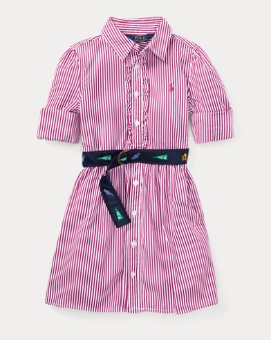 Belted Cotton Shirtdress