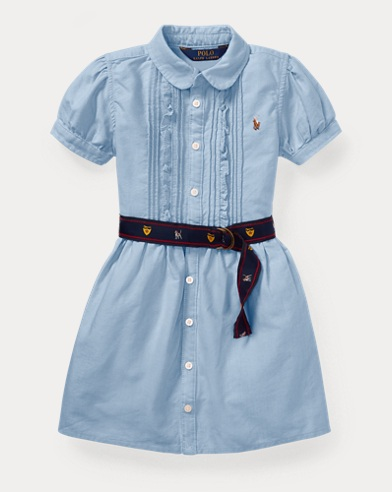 Belted Oxford Shirtdress
