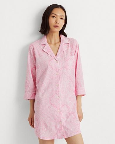 70dbfdee86 Cotton Sleep Shirt. Lauren