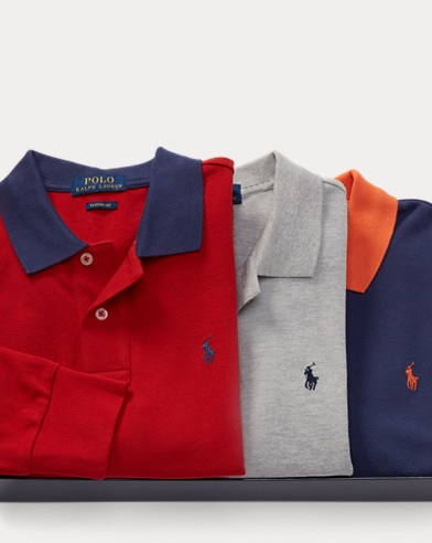 Long-Sleeve Polo 3-Piece Set
