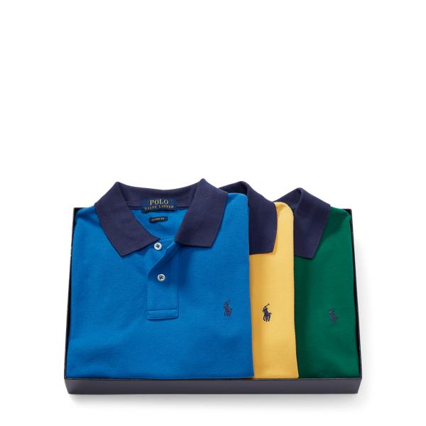 Ralph Lauren Mesh Polo 3-Piece Gift Set Multi M