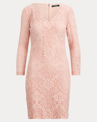 Lace V-Neck Dress