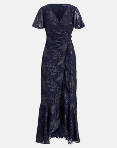 Jacquard Surplice Gown