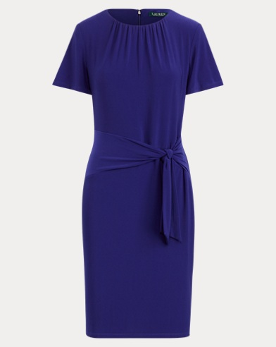 Self-Tie Jersey Dress