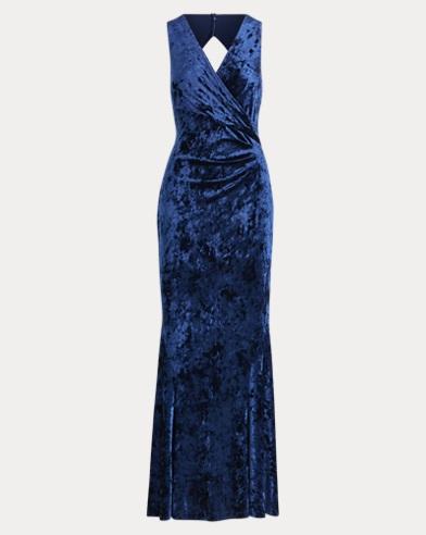 Velvet Open-Back Gown