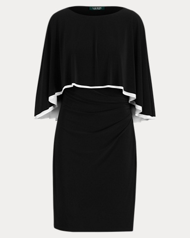 Jersey Cape Dress