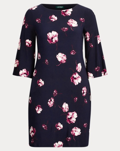 Floral Jersey Shift Dress