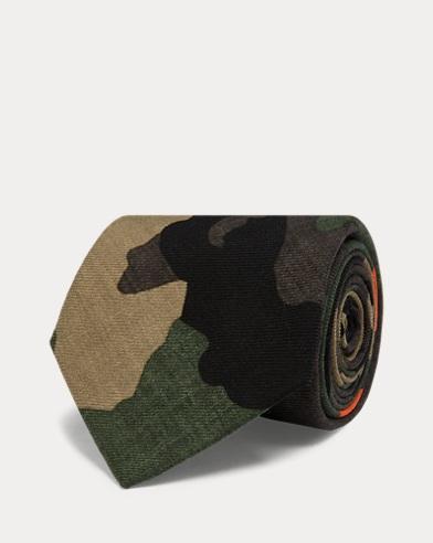 Schmale Camouflage-Wollkrawatte