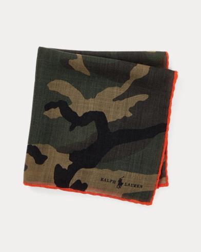 Fazzolettolana stampa camouflage