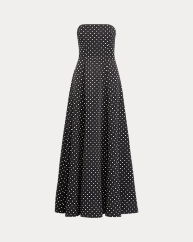 Polka-Dot Faille Gown