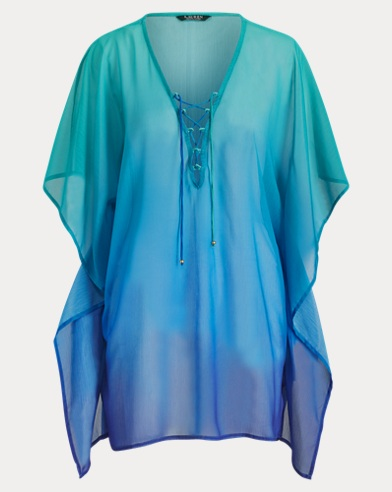 Chiffon Lace-Up Tunic