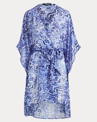 Print Chiffon Wrapped Cover-Up