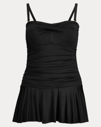 Shirred Skirted One-Piece
