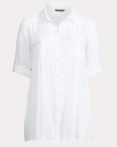 Cotton Shirtdress Cover-Up