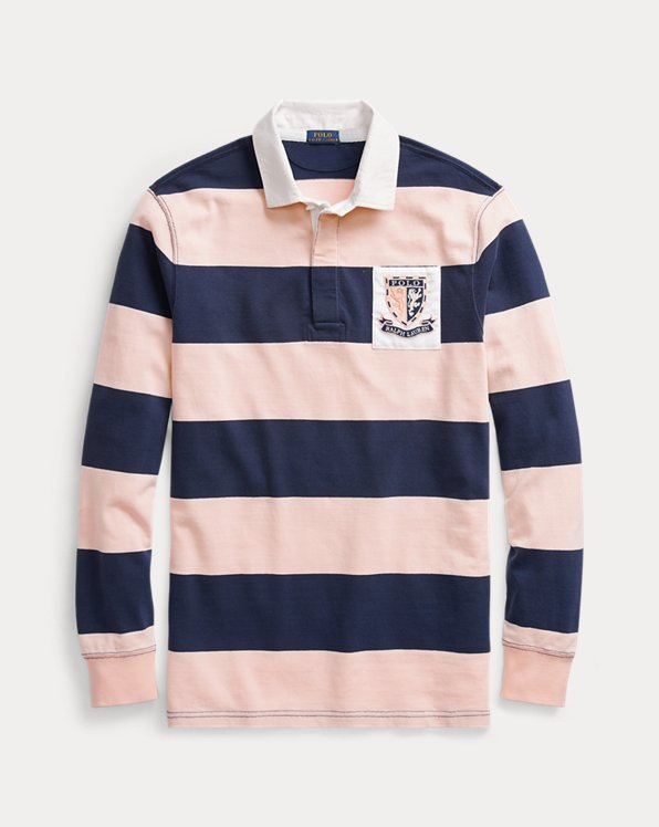 Rugby-Shirt mit Pink Pony