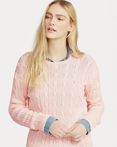 Pink Pony Cable Cotton Jumper