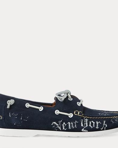 Merton Print Suede Boat Shoe