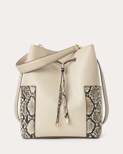 2a85bf78099a Leather Debby Drawstring Bag. Lauren