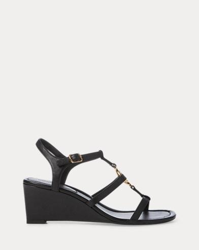 Elina Leather Wedge Sandal