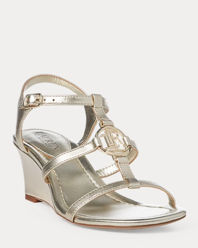 Elina Metallic Wedge Sandal