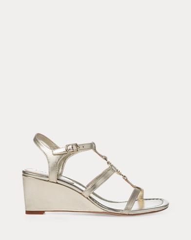 Elina Metallic Wedge Sandal