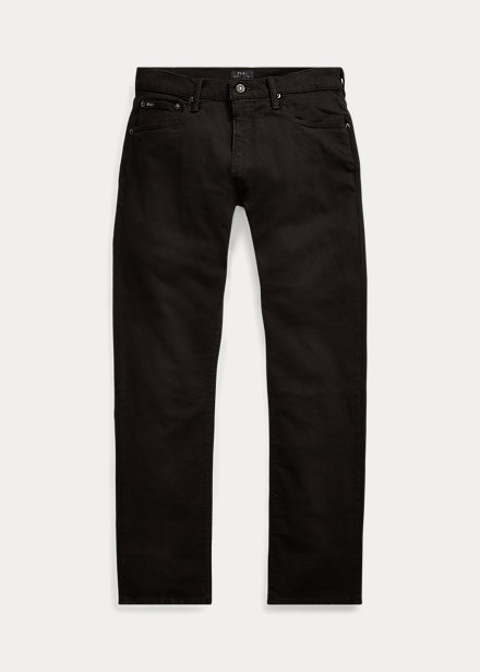 Ralph Lauren Men's Five-pocket Slim Stretch Jeans In Hudson Black