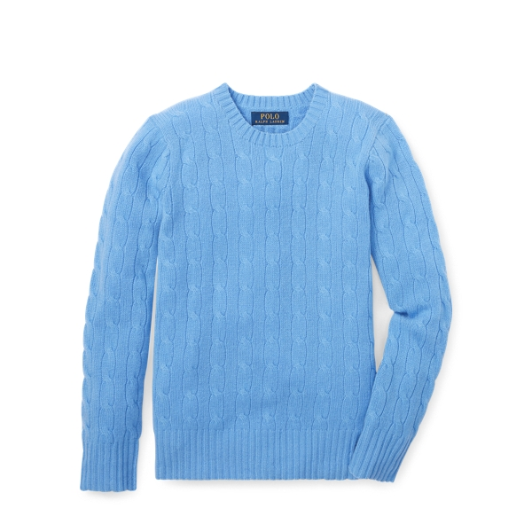 Ralph Lauren Cable-Knit Cashmere Sweater New Litchfield M