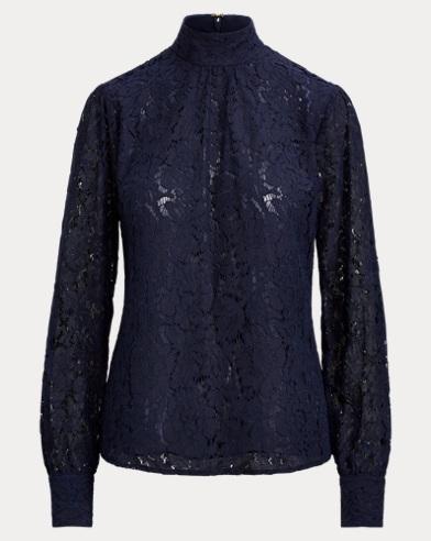 Lace Mockneck Top