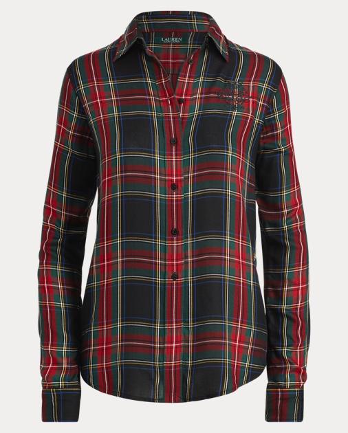 ceb1ce91cdc Lauren Crest Tartan Twill Shirt 1