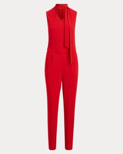 Necktie Jersey Jumpsuit