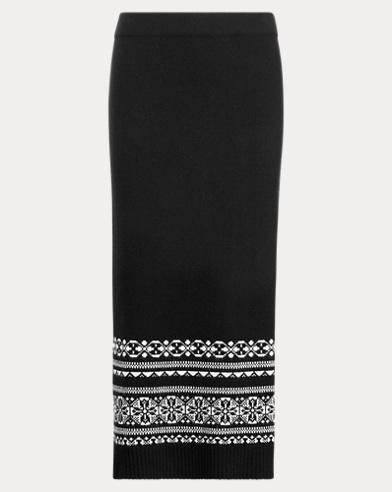 Fair Isle Wool-Blend Maxiskirt