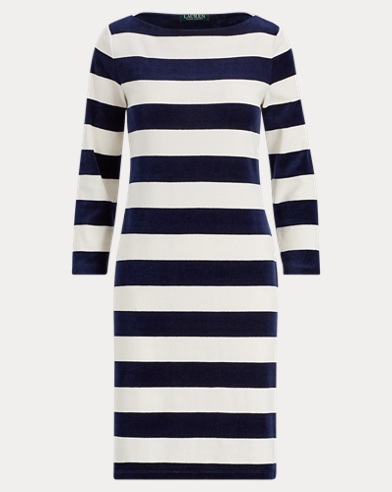 Striped Boatneck Dress