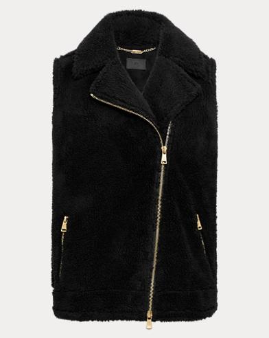 Faux-Shearling Zip Vest
