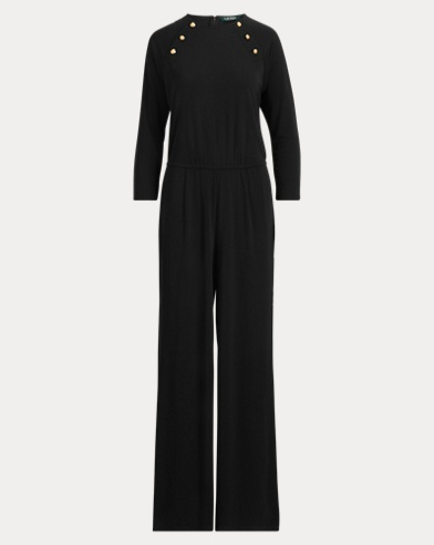 Rivet-Trim Jersey Jumpsuit