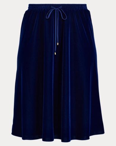 Velvet A-Line Skirt