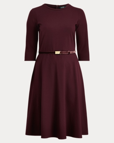 Belted Ponte Dress