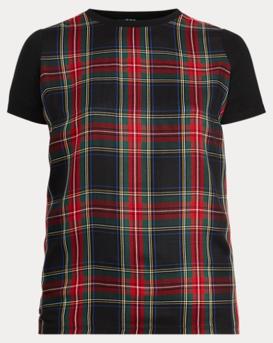 Plaid-Panel T-Shirt