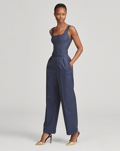 Arina Striped Wool Pant