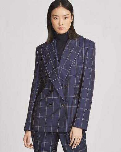 Andela Windowpane Wool Jacket