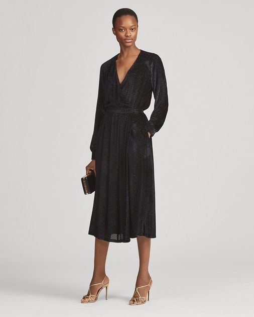 Harmony Velvet Dress by Ralph Lauren
