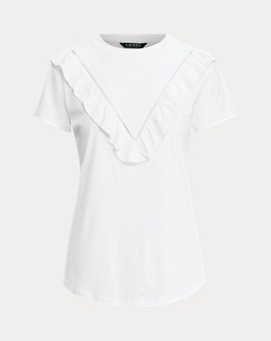 Eyelet-Trim Cotton T-Shirt